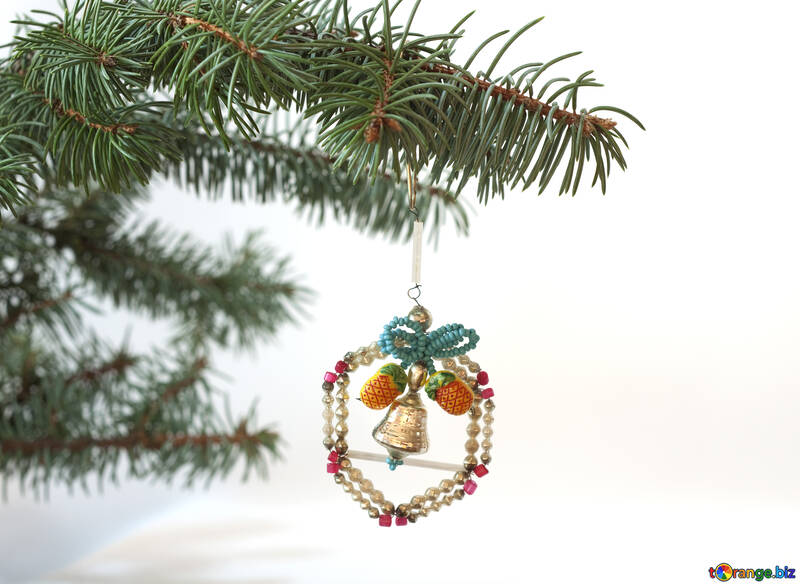 Old  homemade  Christmas tree  Toy. №6767