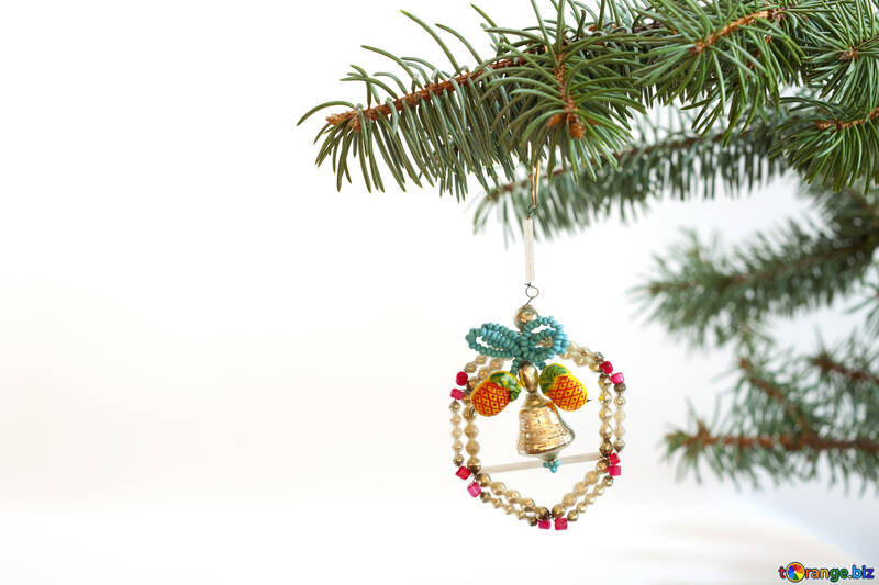 Converted  Christmas tree  toy  at  White  background №6768