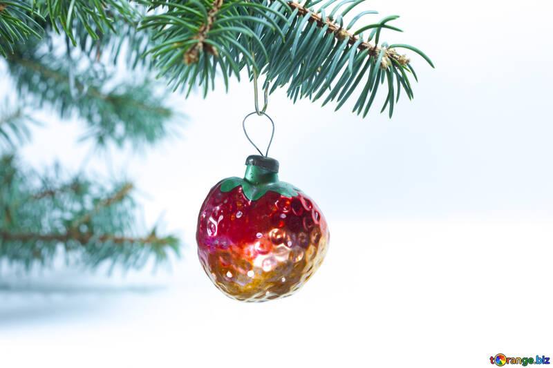 Christmas tree  Decoration   form  Strawberry . USSR №6836
