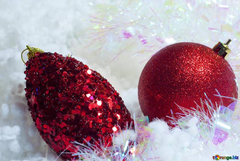 La Navidad postales . Rojos bolas. №6340