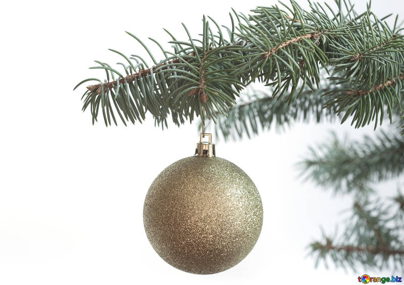 Christmas  ball  at  White  background №6779