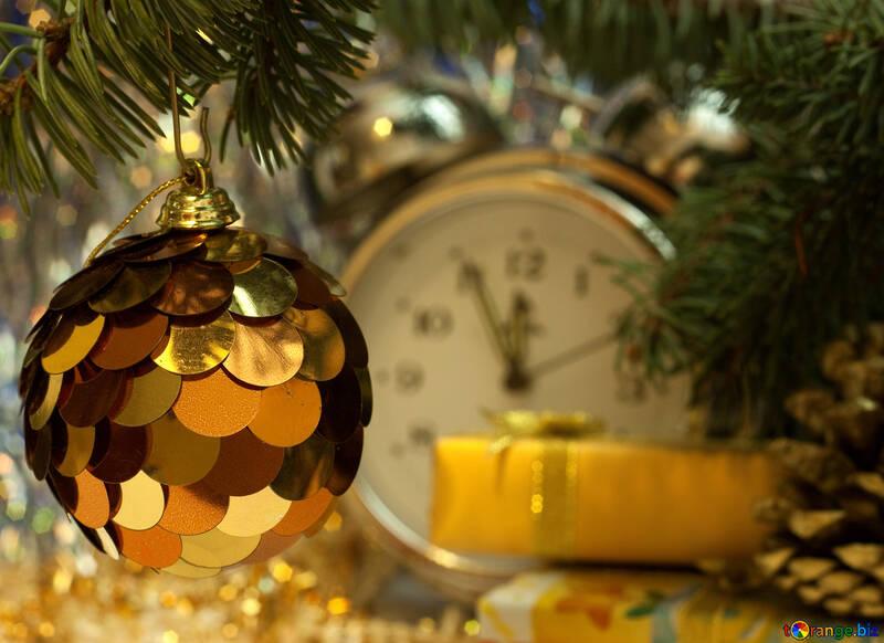 Nuevo año en oro tonos. №6913