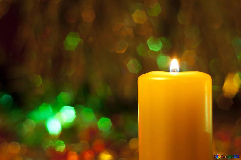 Candle at New  year  and  Xmas. №6665