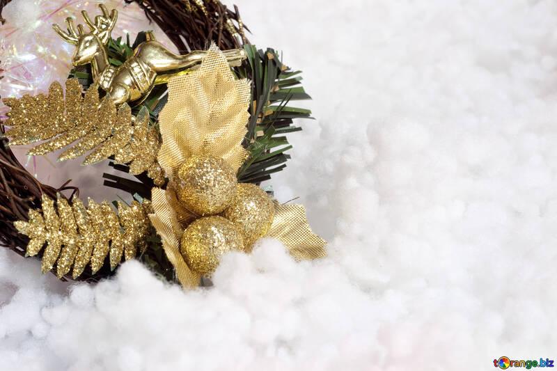 New Year  wreath №6451