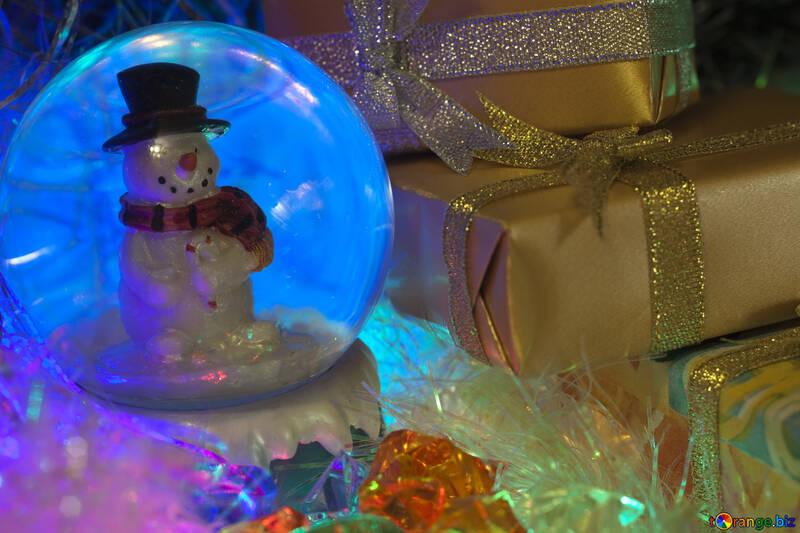 Снежный шар. Снеговик. №6540