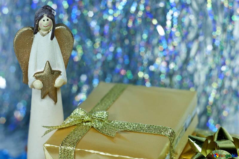 Figurine  Angel  with  star №6700