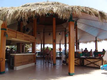 Bar  at  the beach. №7005