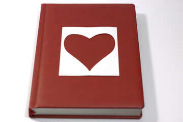 Love  poems , novels . Book   heart.