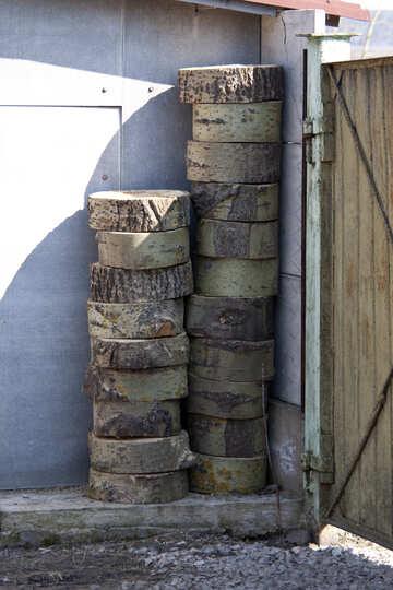 Sawn  trunk  tree №7617