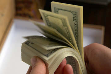 Viele USD Hände №7645