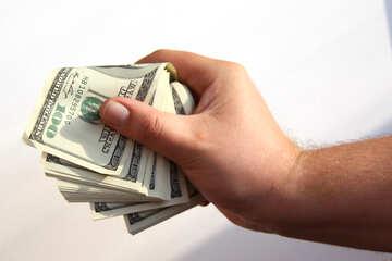 Доллары в кулаке №7647