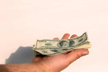 Доллары на ладони №7652