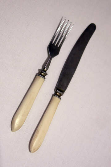 Fork  and  knife. №7482