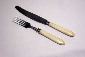 Knife  and  fork .  №7483