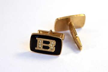 Cufflinks  gold. №7673
