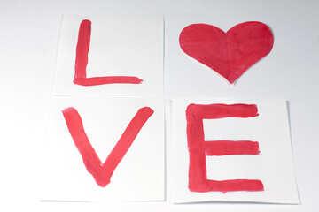 Inscription Love heart №7172