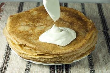 In pieno Piatto pancake. №7761
