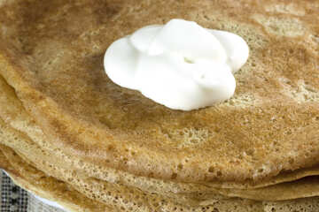 Recipe pancakes . Illustration recipe. №7781