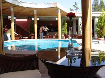 Round- Pool   Center , canopy  by  perimeter. №7011