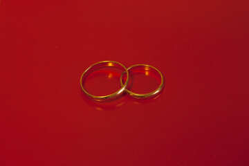 Engagement  ring  at  Red  background. №7124