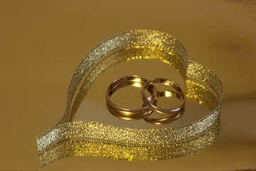 Rings   heart. №7129