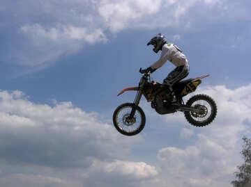 Motociclista priorità bassa cielo №7816