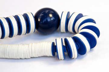 Plastic  beads. №7669