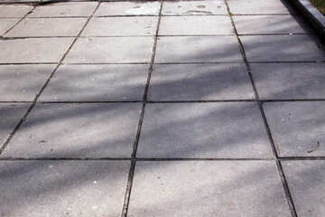 Plates  Sidewalk , square. №7632