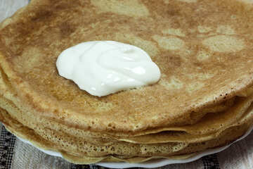 Pancakes and sour cream №7774