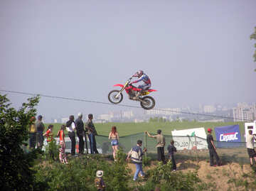 Competitions  sports  motorcycles. №7810