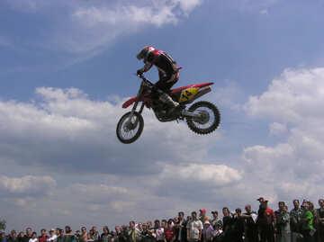 Jump  motorcyclist. №7818