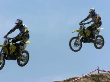 Jumping  at  motorcycle №7823