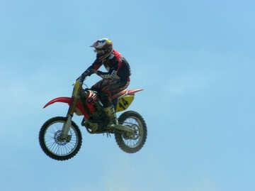 Jumping  at  sports  motorcycles. №7824