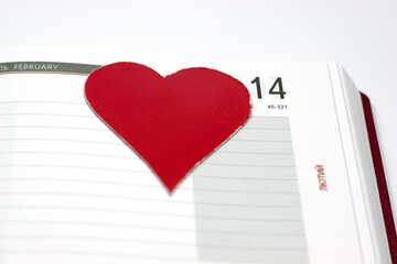 Biglietto di S. Valentino diario. №7150