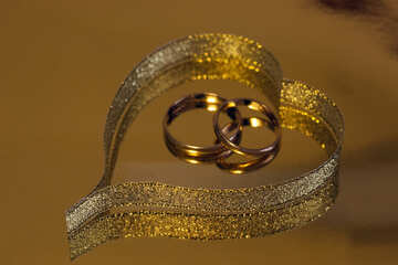 Valentine  of the  Gold  Ribbon   rings №7154