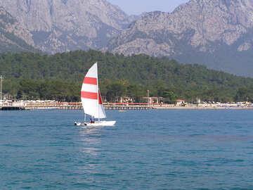 Catamaran  sailing. №7837