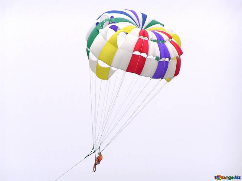Skifahren an Fallschirm №7835