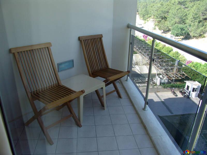Folding  chairs  at  balcony №7896