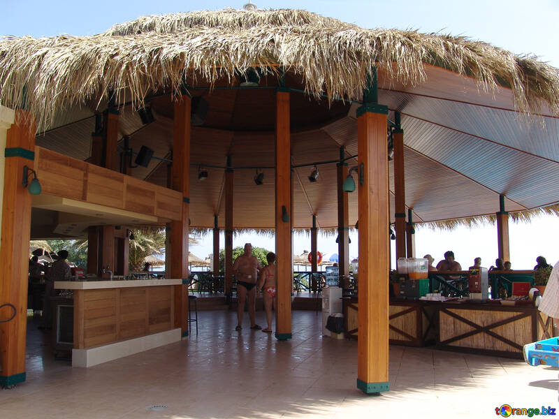 Bar  at  the beach. №7005