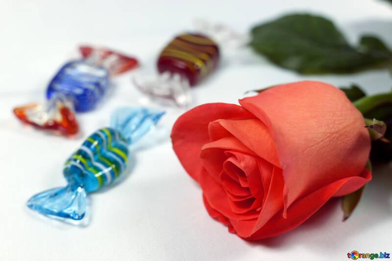 Blumen und Süßigkeit. №7262