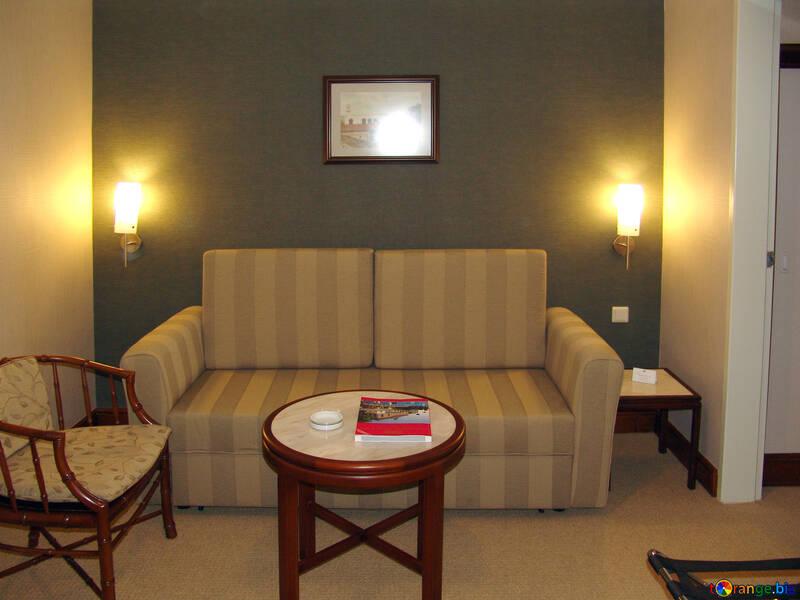 Sofa  and  coffee  table. №7935