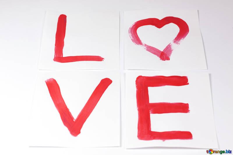 Любовь. Красная краска. №7127