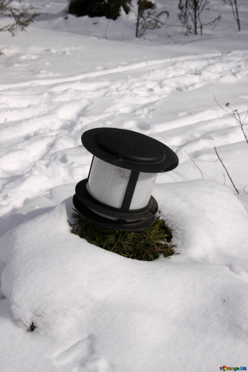 Lamp   snow №7386