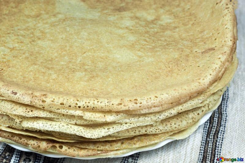 Plate  pancakes. №7790