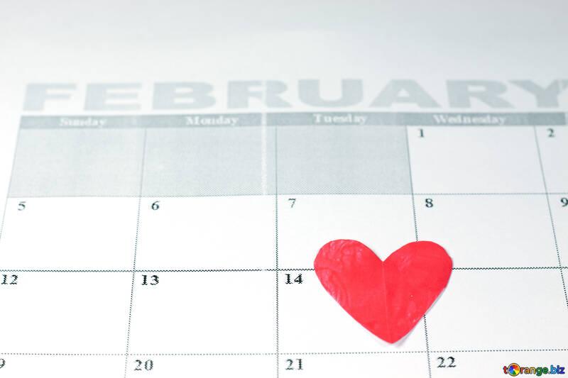 Valentine   calendar. №7156