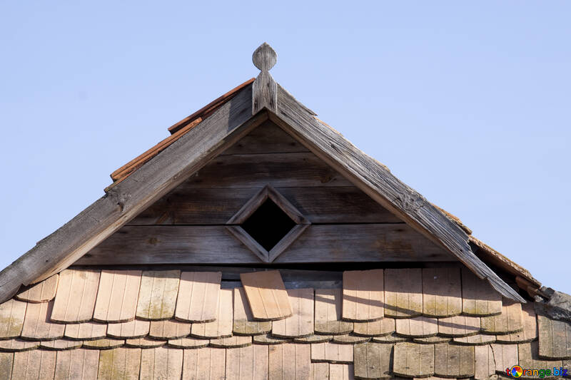 Old  ventilation  window  at  tile  roof №7619