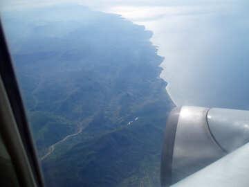 Mountains   plane. №8016