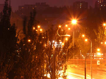 Night city after rain. №8080