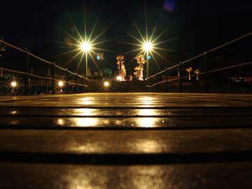Wooden  terrace  night. №8518