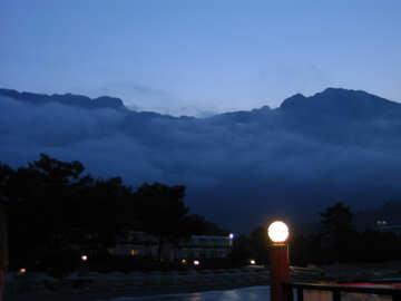 Abend Berge №8556